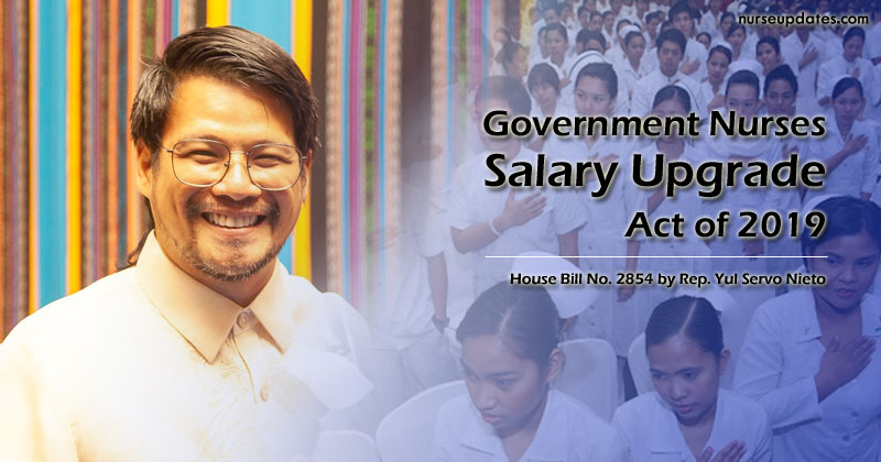 Solon files bill upgrading nurses salary from Salary Grade 11 to 15