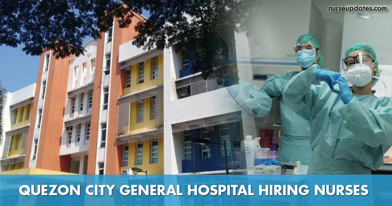 Quezon City General Hospital hiring staff nurses, salary at P32,053