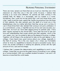 nursing personal statement examples will help you gain all the