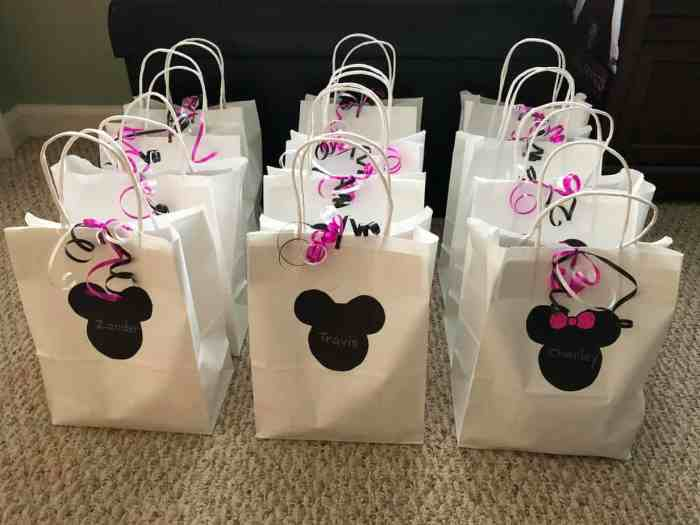 Minnie Mouse 2nd Birthday Party Favor Bags Finished