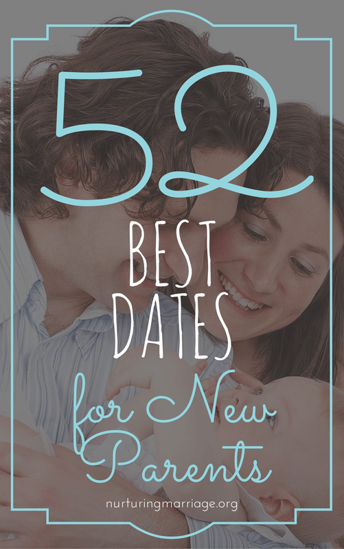 Although having a new baby can consume your life, it is so important to choose to take time to nurture your marriage. We've compiled a list of 52 best dates for new parents - for every season of the year. A lot of these are things you can do at home, or with your new baby in-tow, but some of them need to simply be one-on-one dates, while a babysitter watches your new one (the baby will survive, trust us). It doesn't really matter what you do for date night, as long as you are intentional about making it happen.