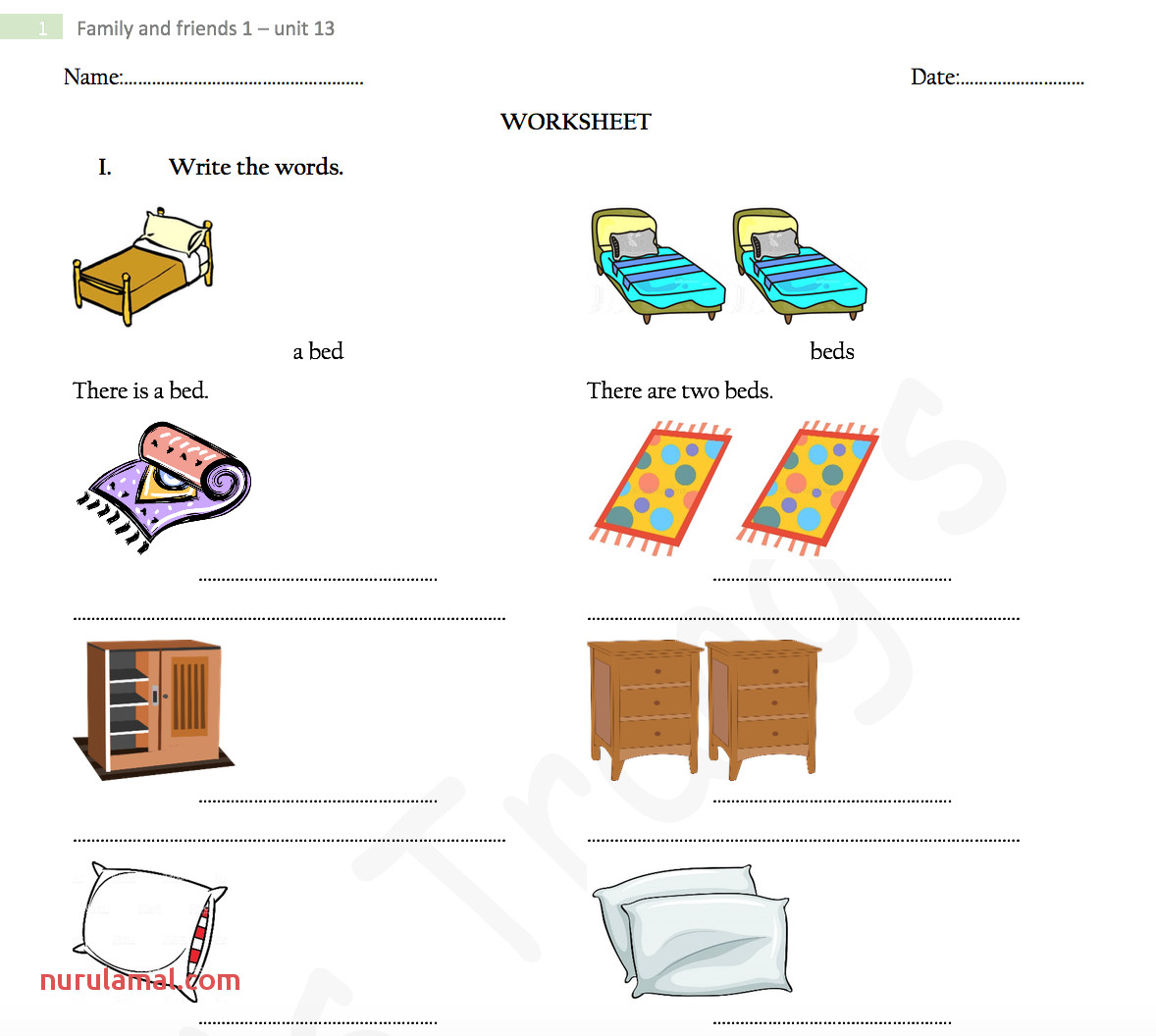 Printable French Worksheets Grade 1 Nurul Amal