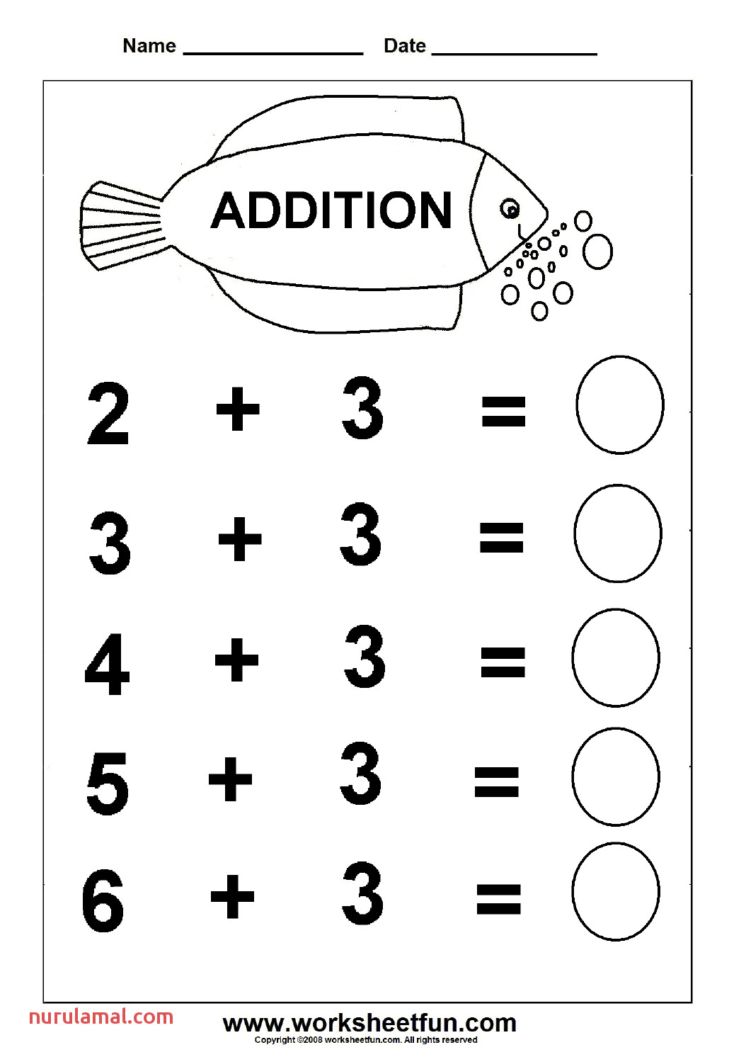 Free Math Coloring Worksheet Addition And Subtraction