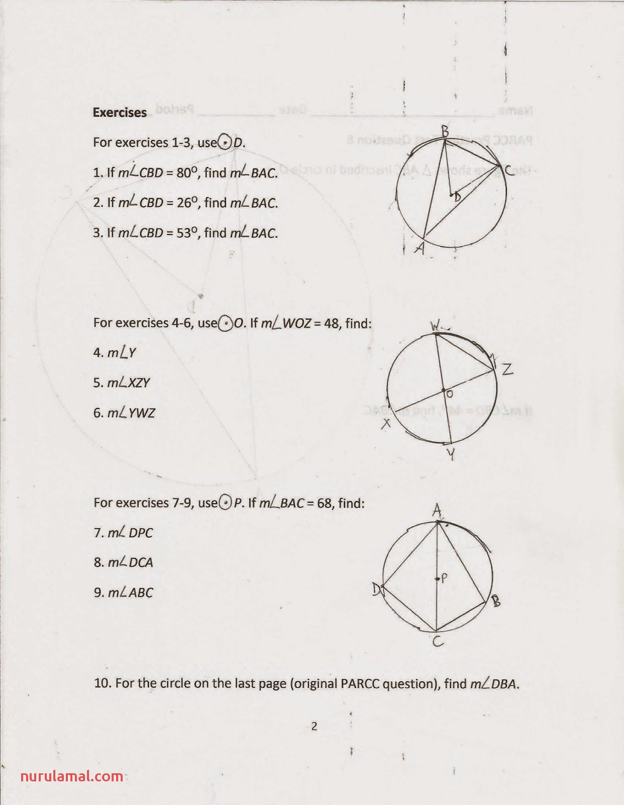 Worksheets Finding Key Points