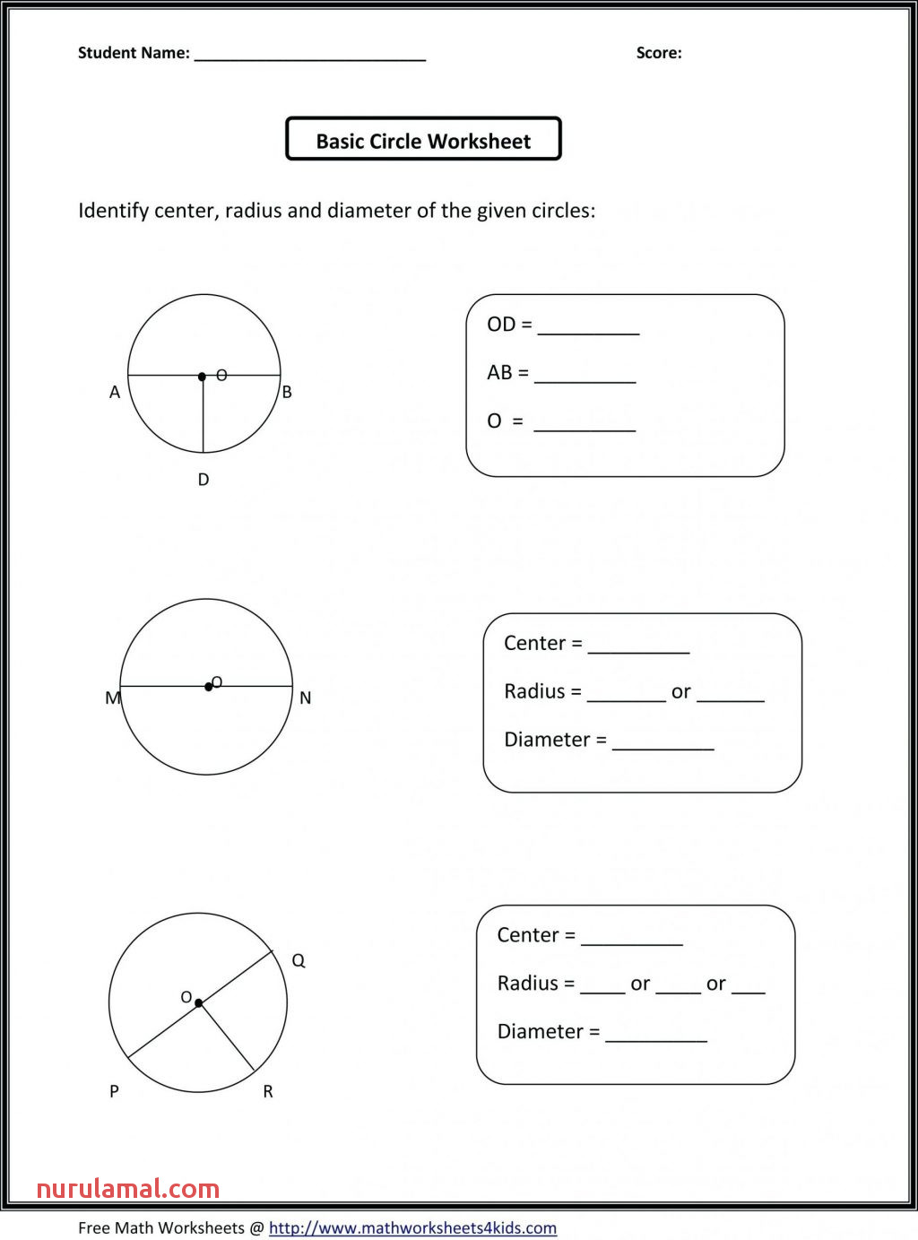 Free Printable Math Worksheets For Kids Color