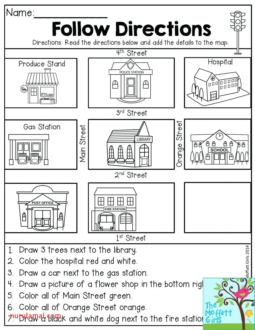 Worksheets 1st Grade Movement