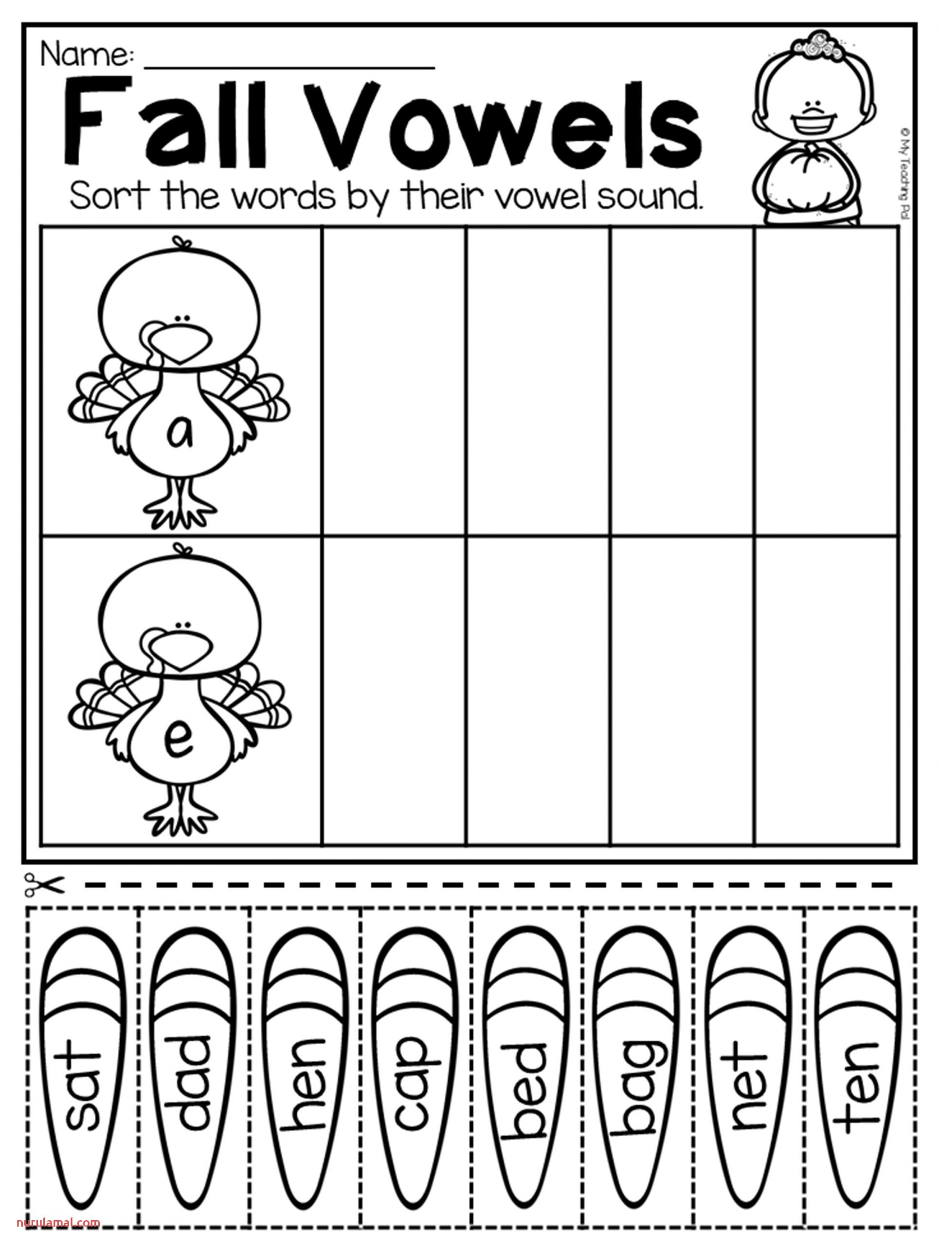 Fall Preschool Tracing Worksheets