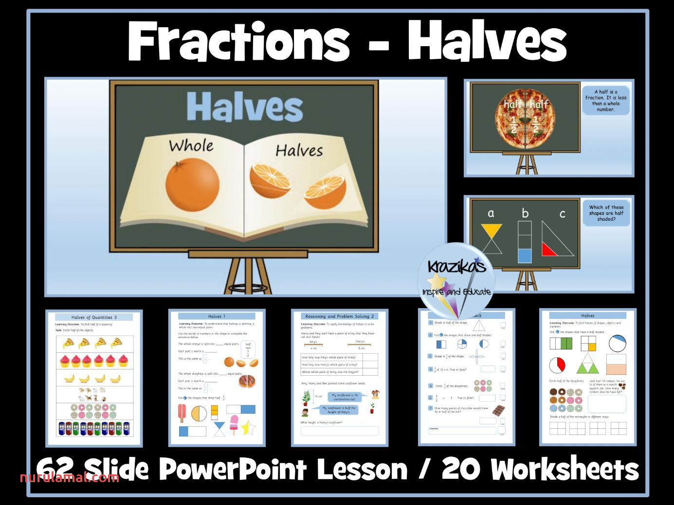 Year 3 Maths Worksheets Fraction