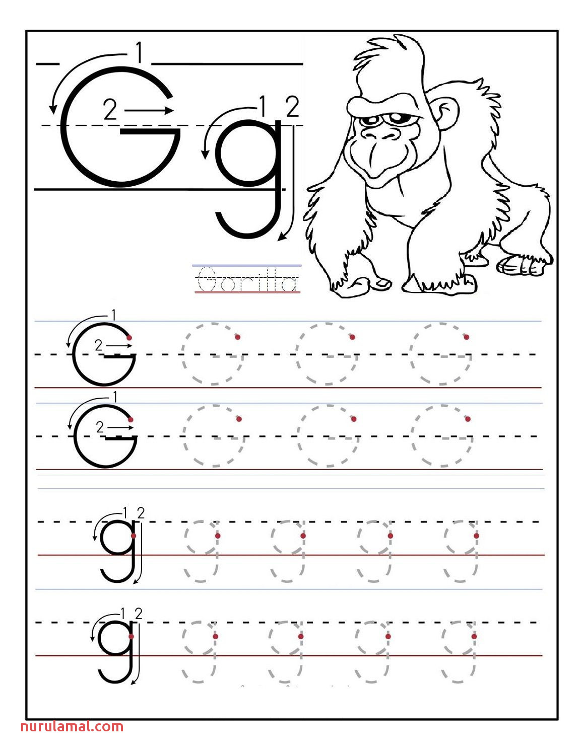 Letter K Is For Kangaroo Preschool Coloring Page Free