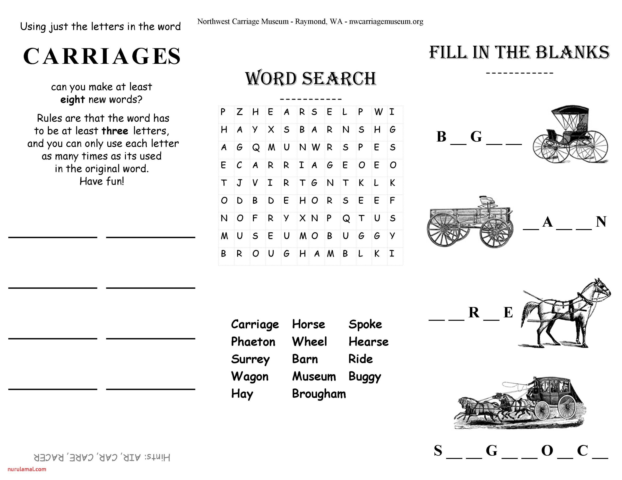 Thanksgiving Word Search Worksheet Printable