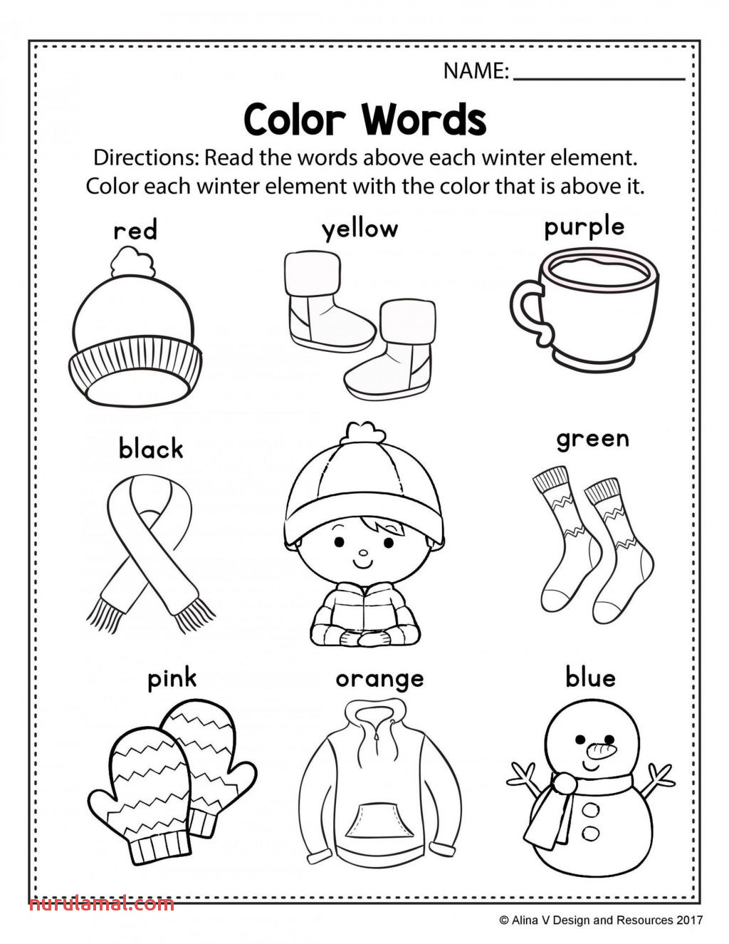Color Green Worksheets Kindergarten