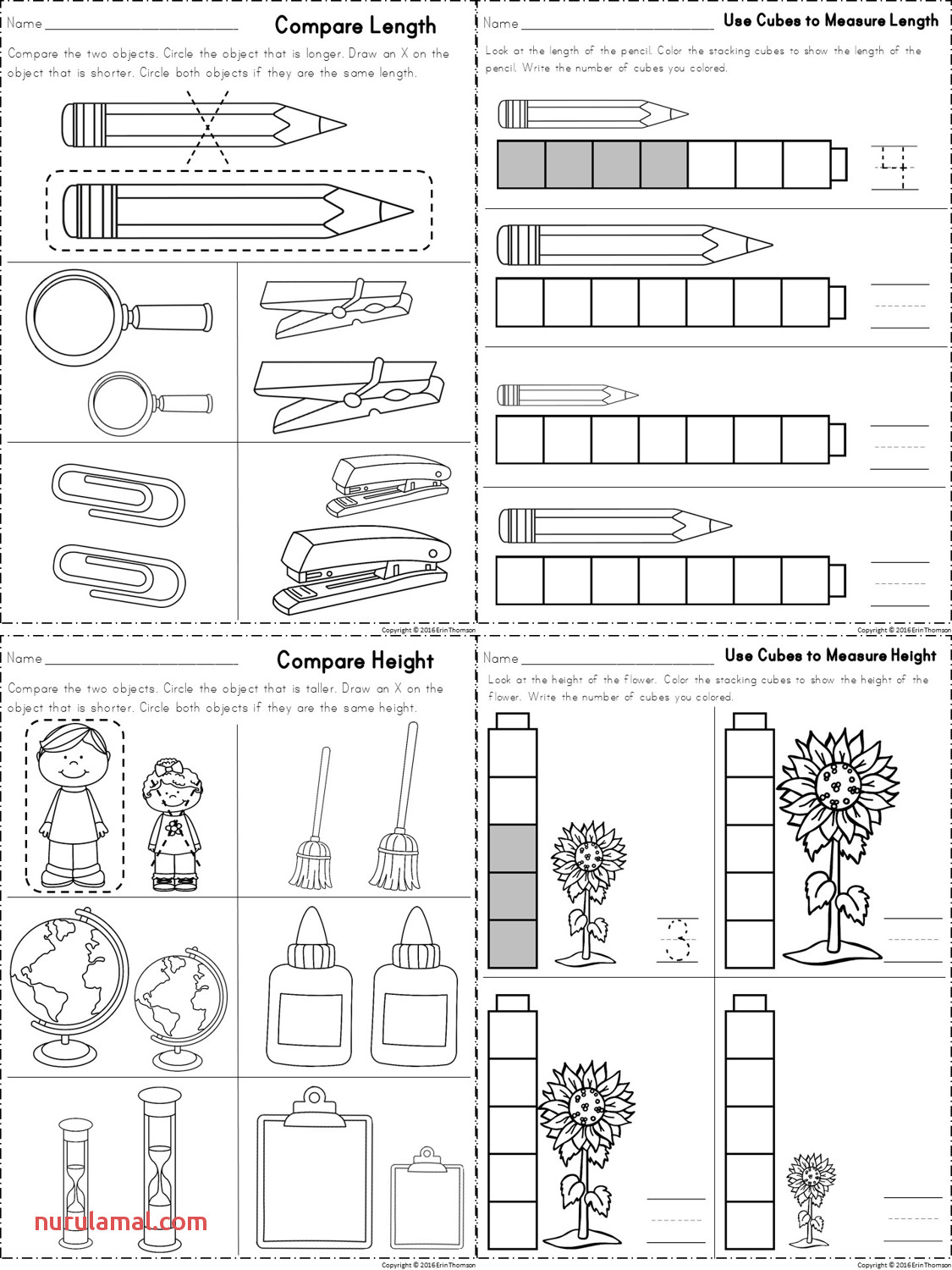 Unifix Cubes Worksheets Printable