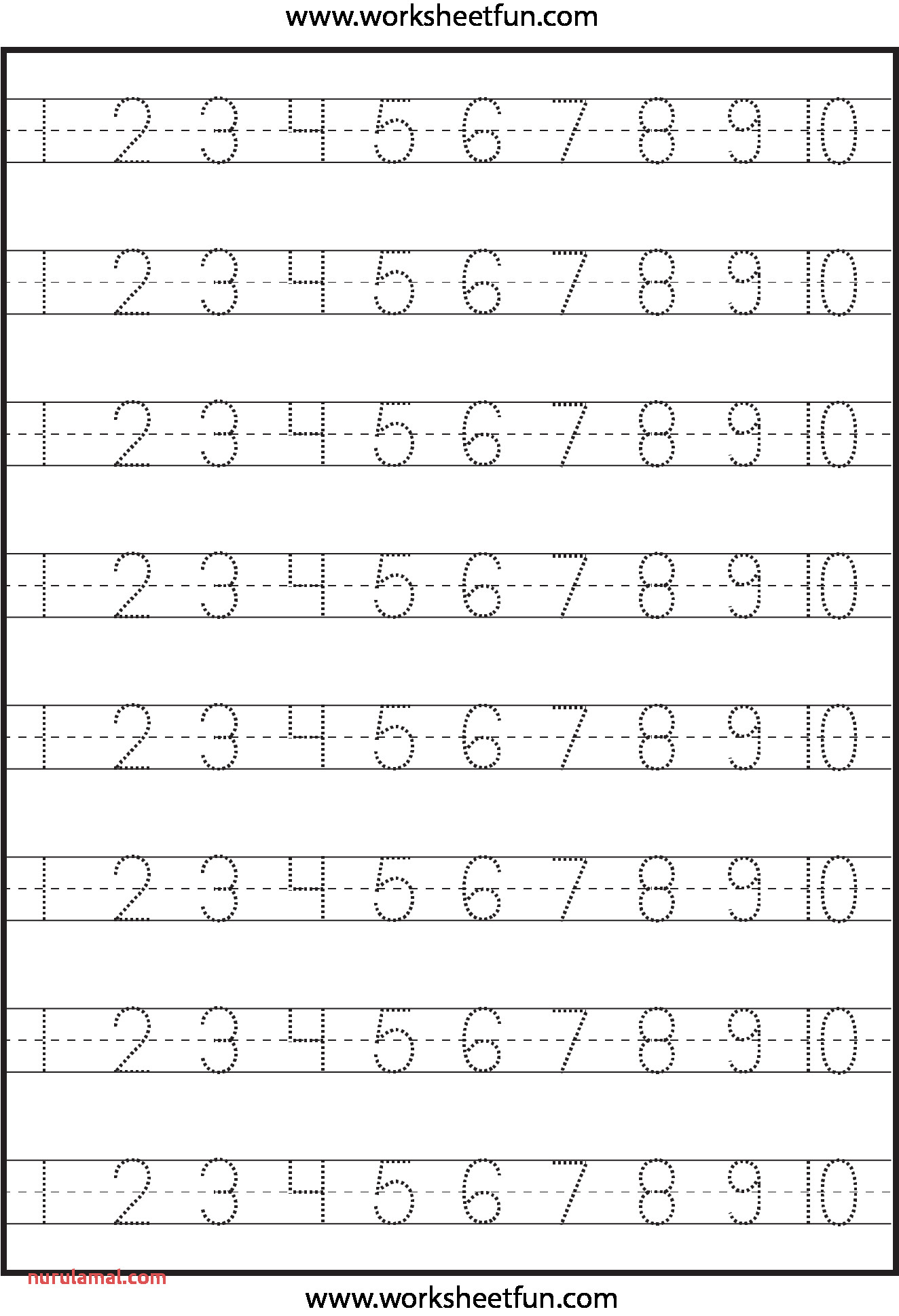 Printable Preschool Worksheets Number 1