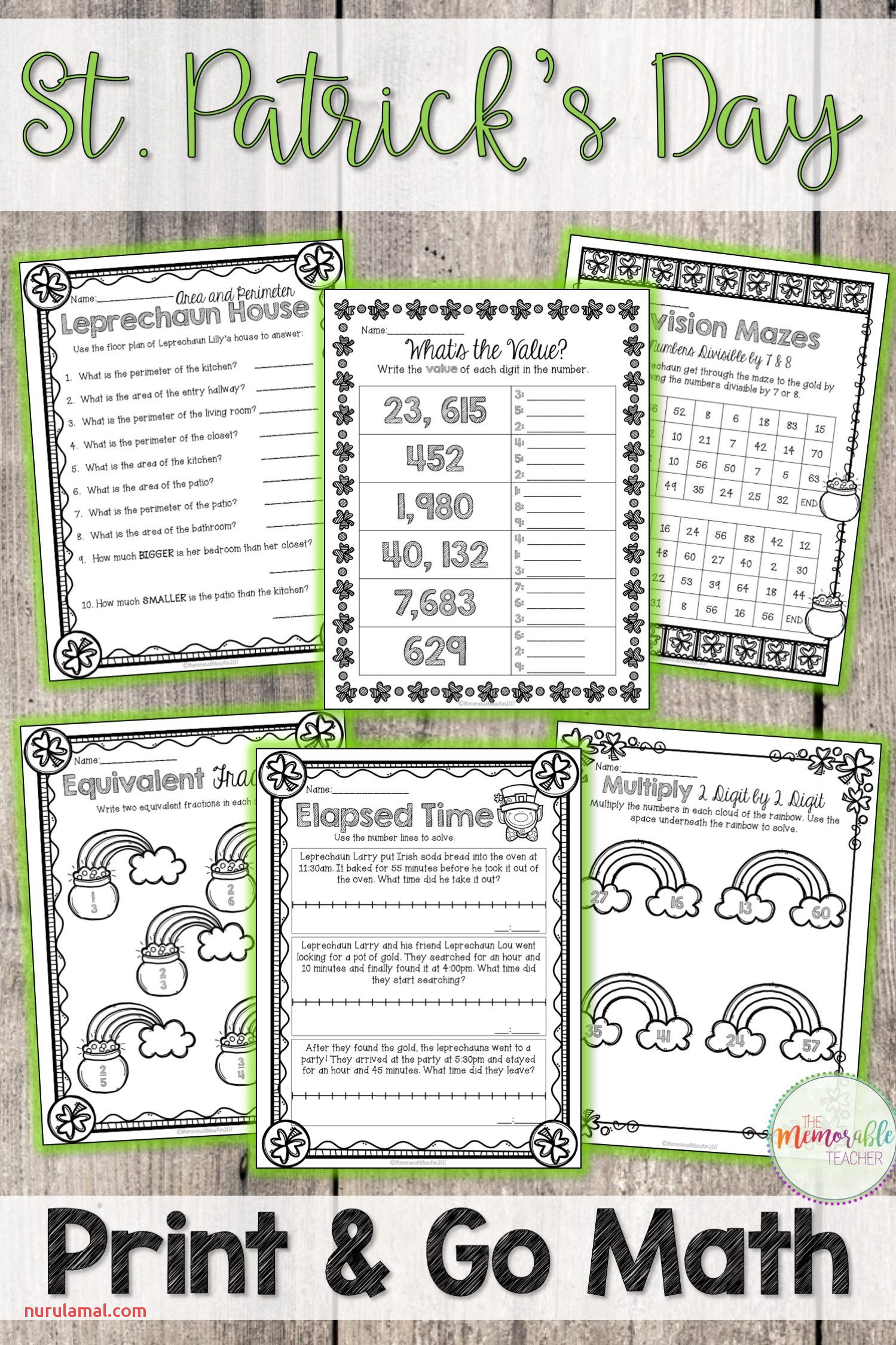 St Patricks Maze Worksheet Printable