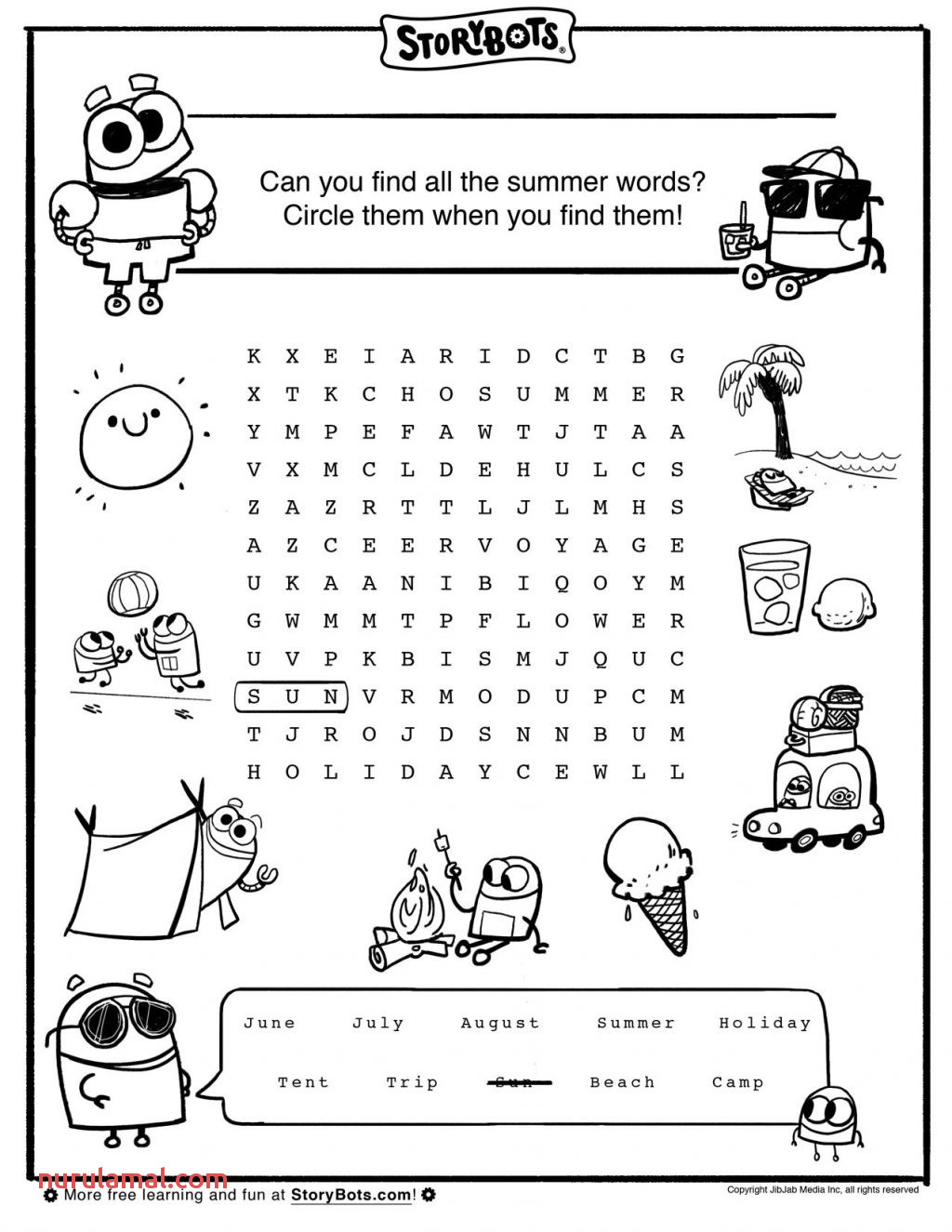 Math Worksheet Word Search Puzzles
