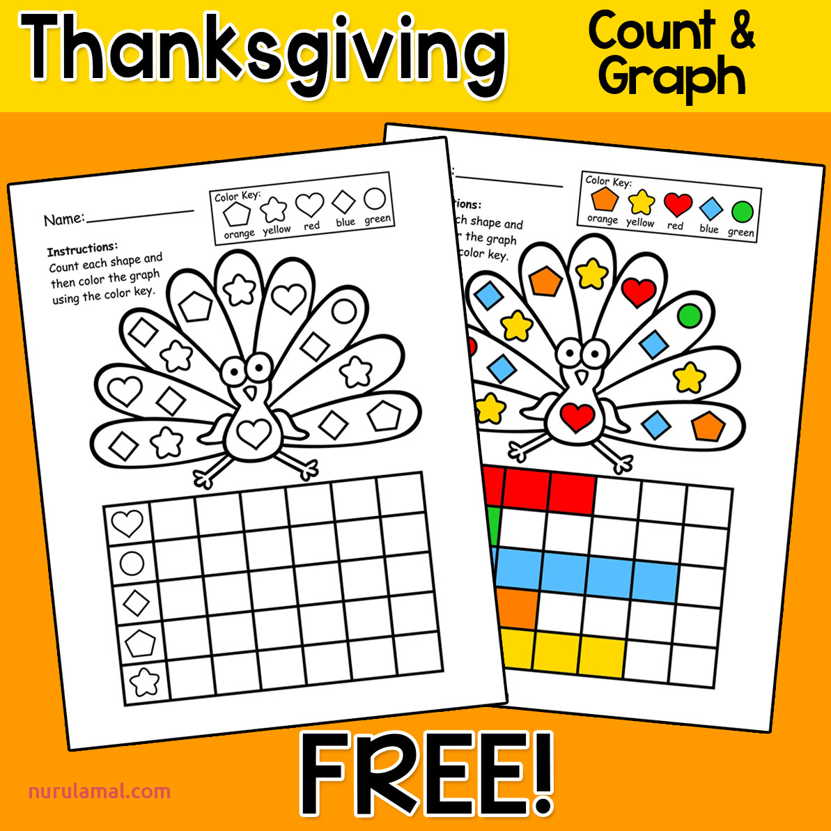 Thanksgiving Counting Worksheet Printable