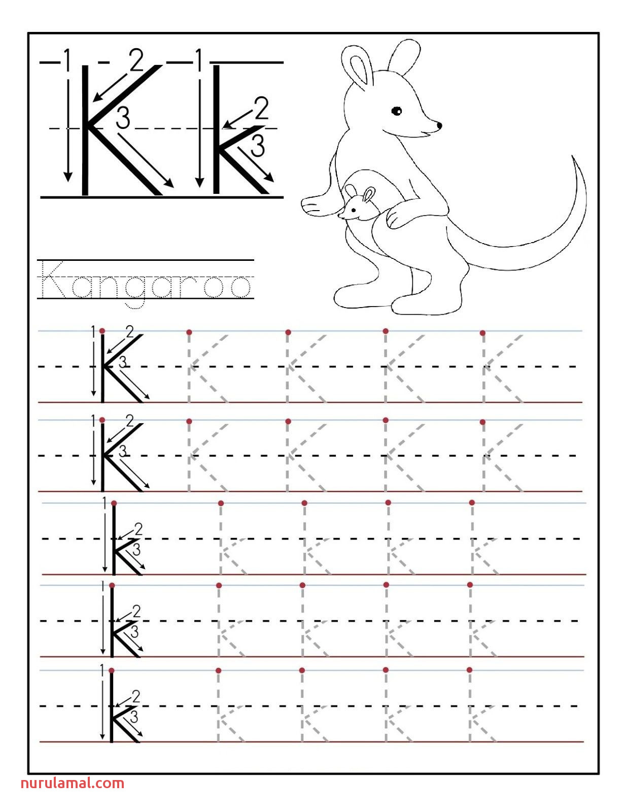 123 Tracing Worksheets Preschool