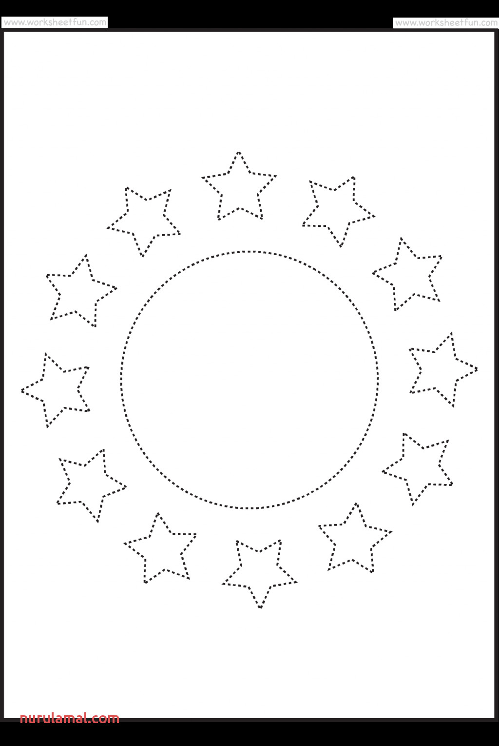 Star Shapes Printable Preschool Worksheets