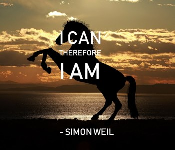 I can therefore I am