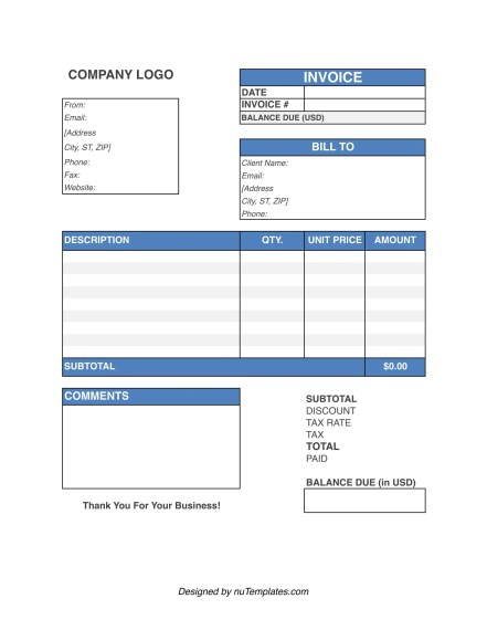 cleaning invoice template img