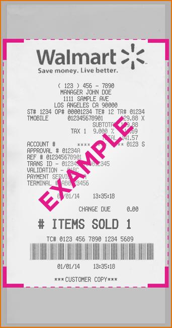 Template - Nutemplates Walmart Receipt Receipts