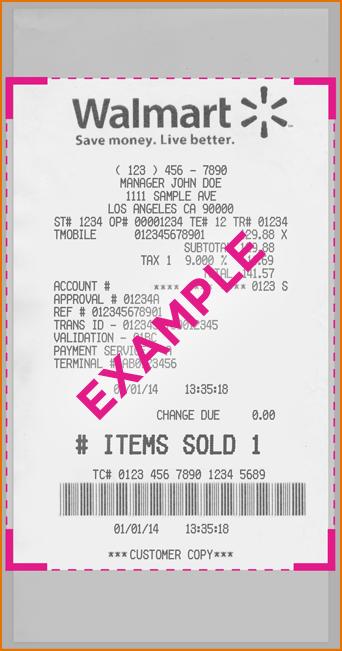Walmart Receipt Template - Walmart Receipts | nuTemplates