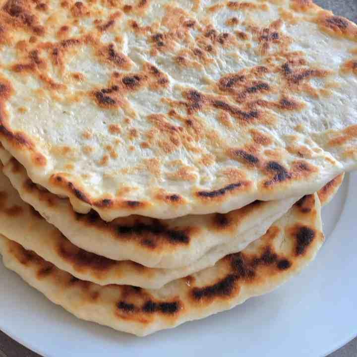 Close up Greek pita bread
