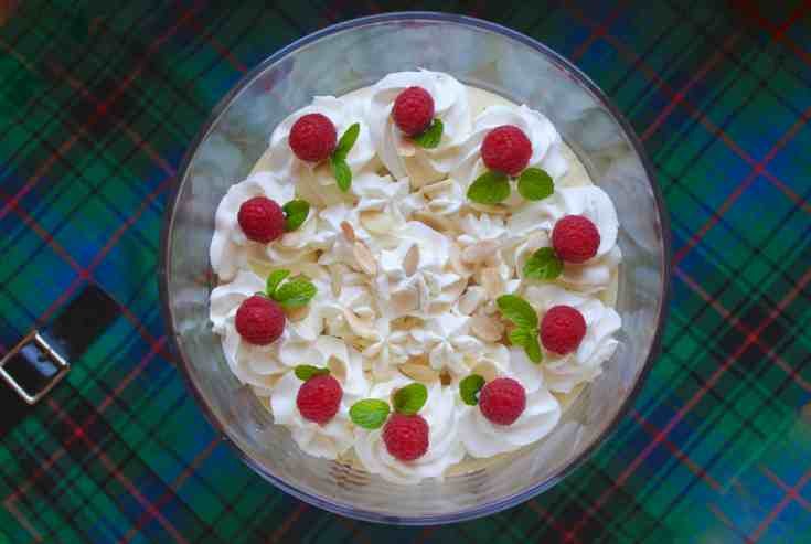 Typsy Laird, Authentic Scottish Trifle for Christmas and Burns Night