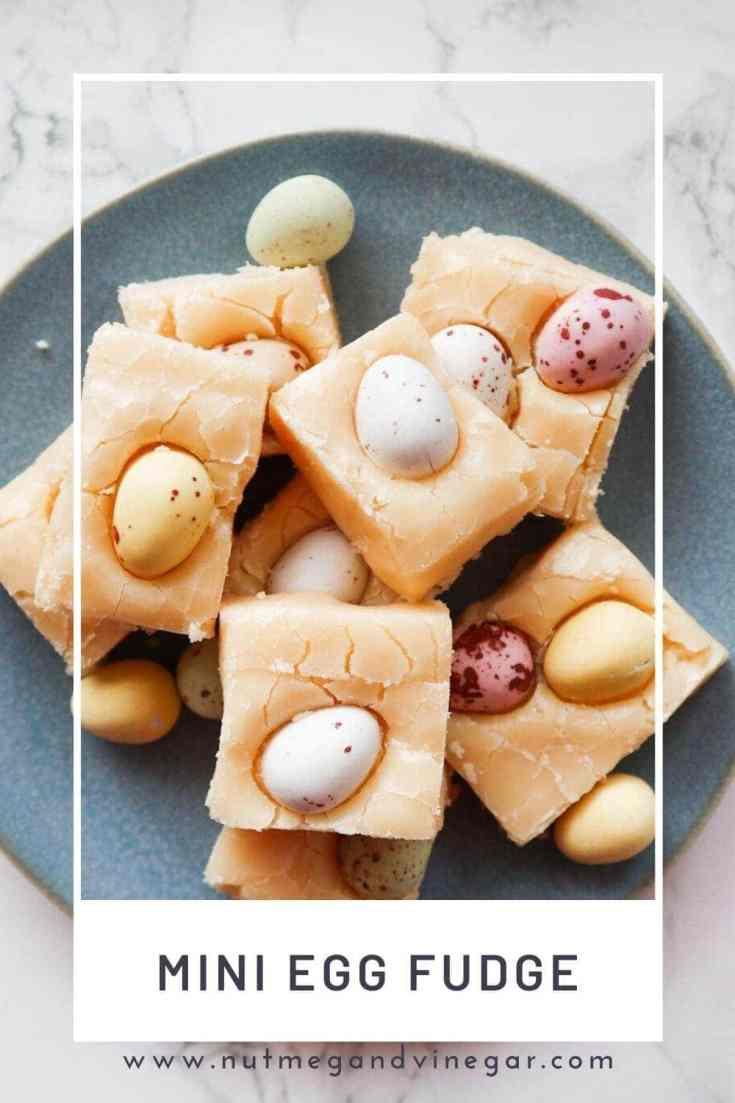 Creamy, delicious, old fashioned mini egg fudge