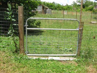 chicken paddock gate