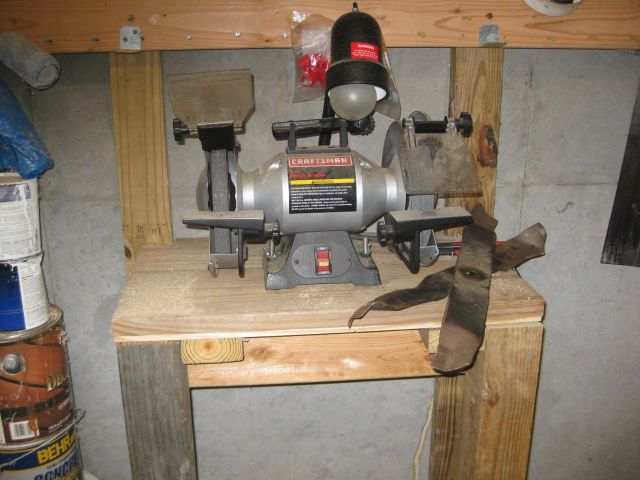my bench grinder - if a fast revolving grindstone shatters, there will be injury