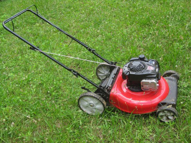 handy gas powered push mower