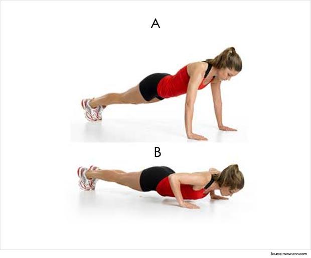 flexões de braços