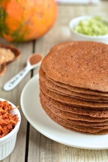 pancakes-buckwheat-oat-bran-grated-veggies