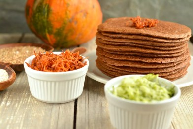 pancakes-buckwheat-oat-bran-grated-veggies