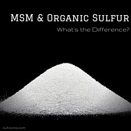 The Difference Between MSM and Organic Sulfur