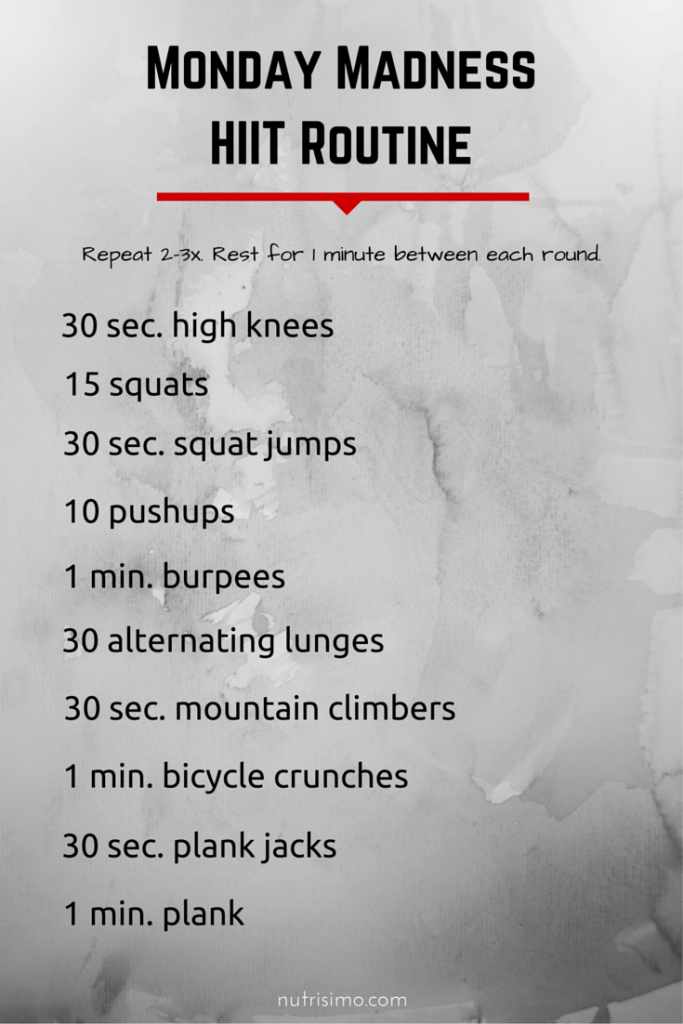 Monday Madness HIIT Routine