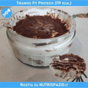 Oggi il nutrizionista propone: TIRAMISÙ FIT PROTEICO (119 kcal/porzione).