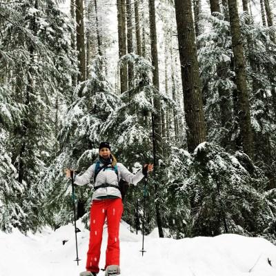 Snowshoeing at Pratt Lake