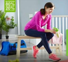 Atteignez l'efficacité avec 80% de nutrition et 20% de sport