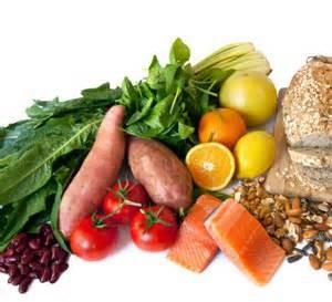 grains, fruits, potatoes