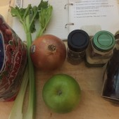 Ingredients needed for chutney