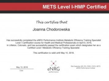 METS Level 1 Cert_JC