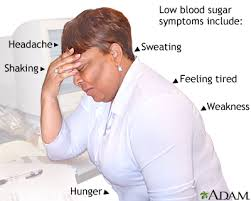 Difference between low blood sugar and dehydration