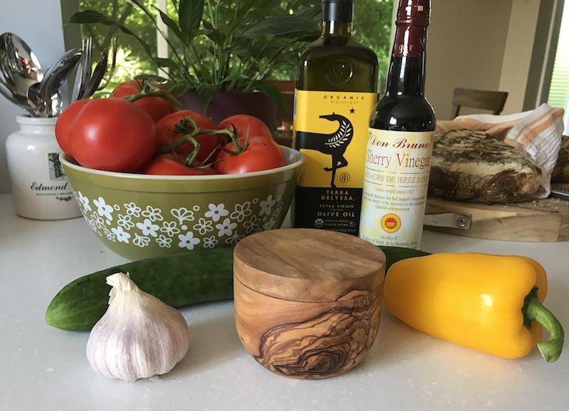 Rustic Gazpacho Ingredients