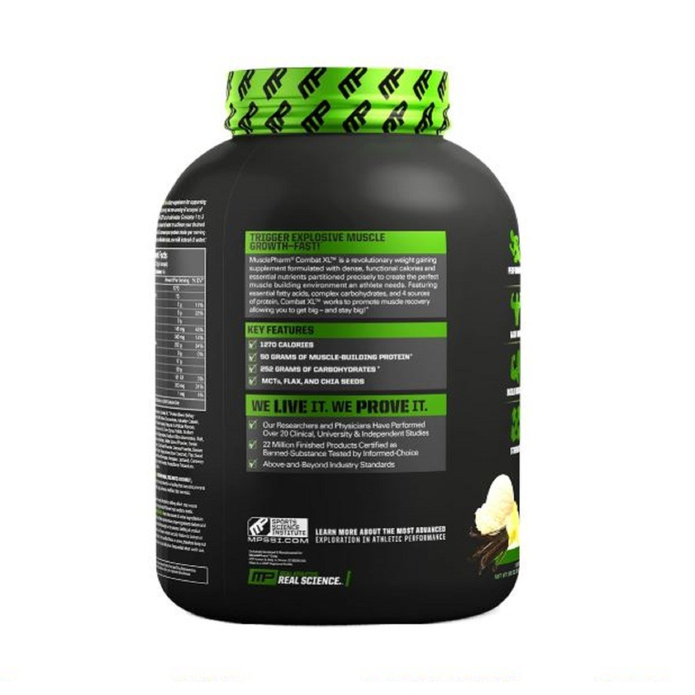 Musclepharm Combat XL Mass Gainer Vanilla 6lbs 2
