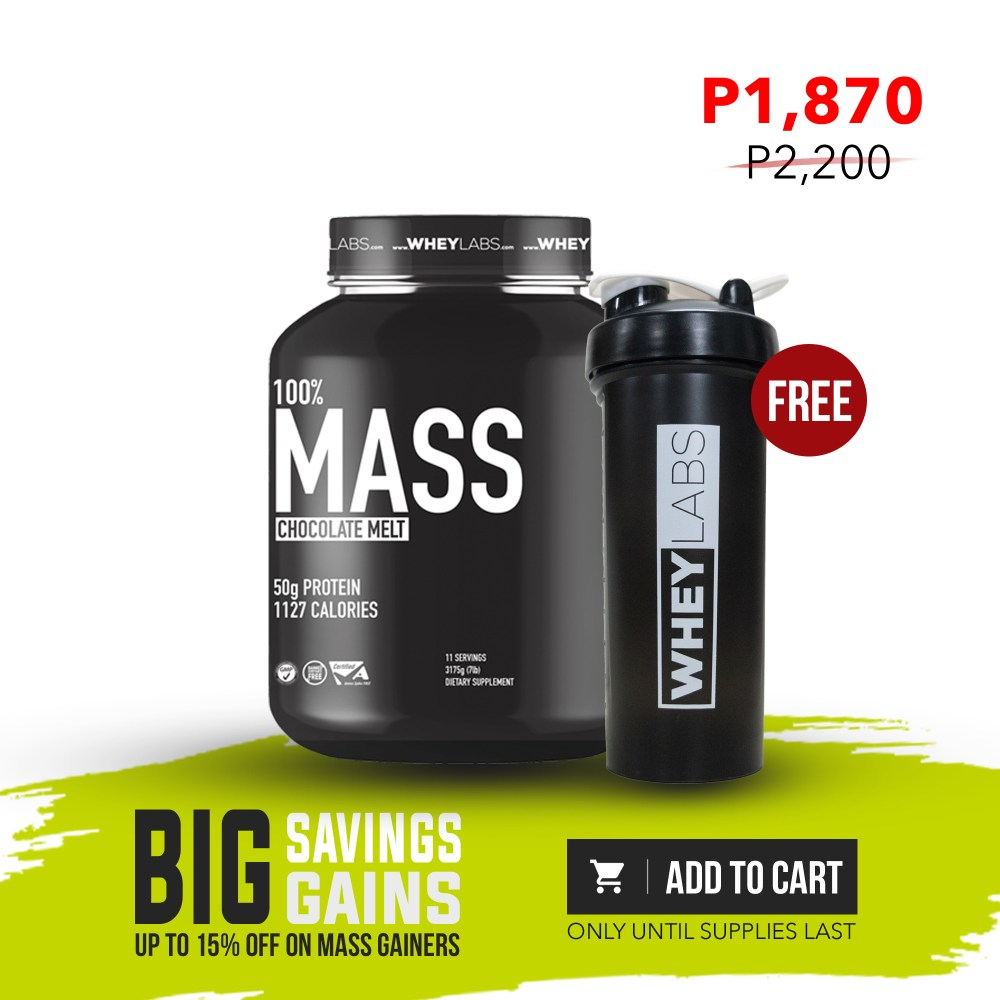 [MG PROMO] WheyLabs – Mass Gainer CHOCOLATE MELT 7Lbs + FREE 1L WheyLabs Shaker - Nutrition Depot Philippines