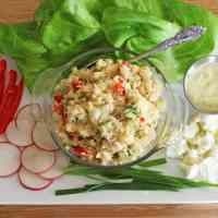 "Cauliflower ""Egg"" Salad (vegan, gluten-free)"