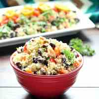 Black Beans and Cauliflower Rice (Gluten-Free, Vegan / Plant-Based)