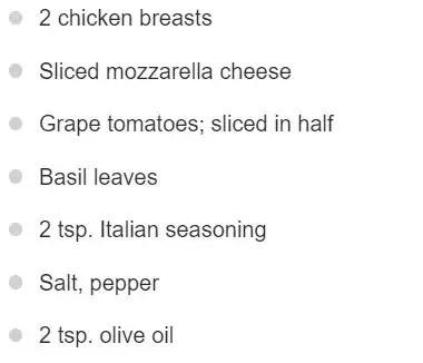 Karina Elle Diet_Chicken Stuffed With Mozzarella Tomatoand Basil